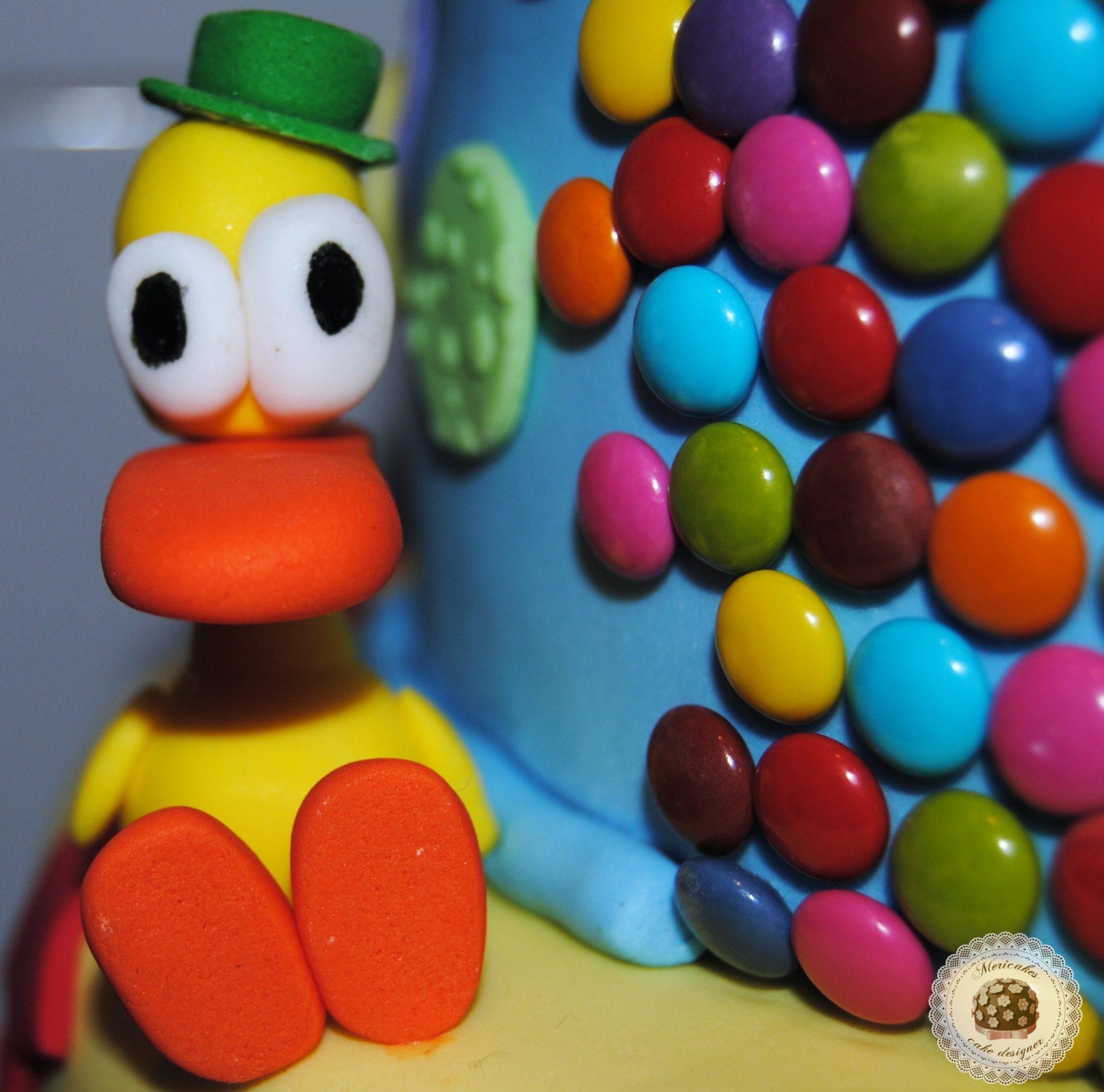 tarta-pocoyo-coche-eli-pato-tarta-fondant-barcelona-mericakes-sugarcraft-baby-cake-boy-cake