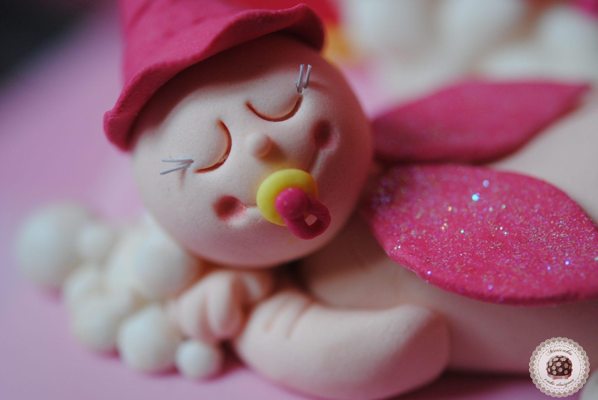 tarta-baby-shower-mericakes-bebe-baby-hada-tartas-decoradas-tartas-barcelona-mericakes-sugarcraft-fondant-angelito-pink-cake-girl-cake
