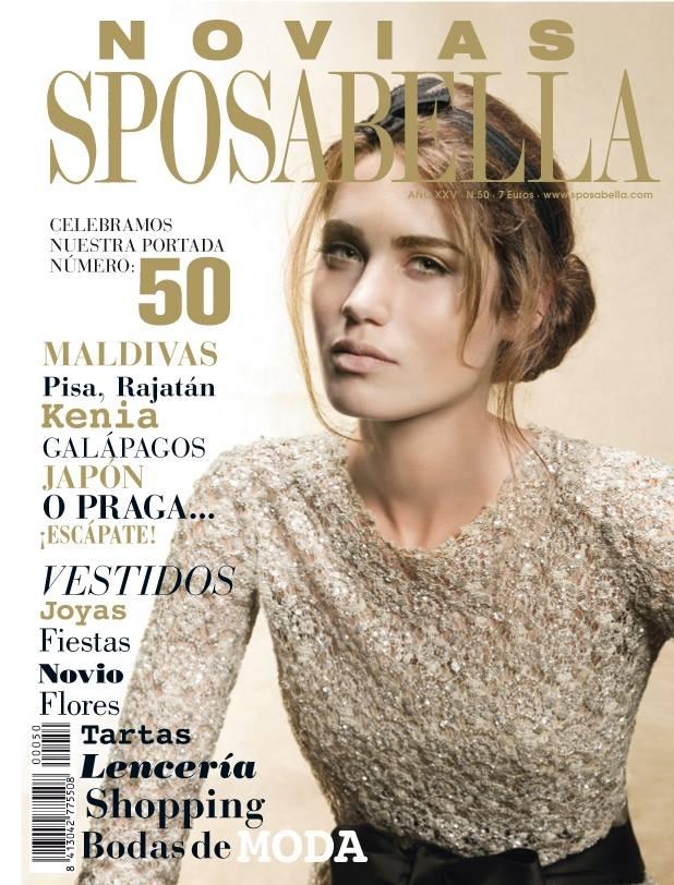 Portada de la revista de novias Sposabella en su 50º aniversario.