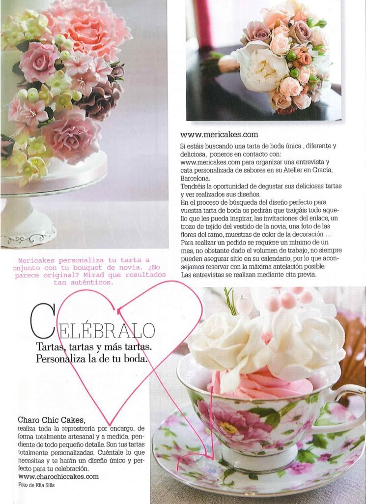 Mención a Mericakes en la revista de novias Sposabella