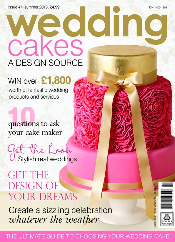 Aparición de nuestras tartas en el nº 47 de la revista internacional Weeding Cakes de Squires Kitchen.