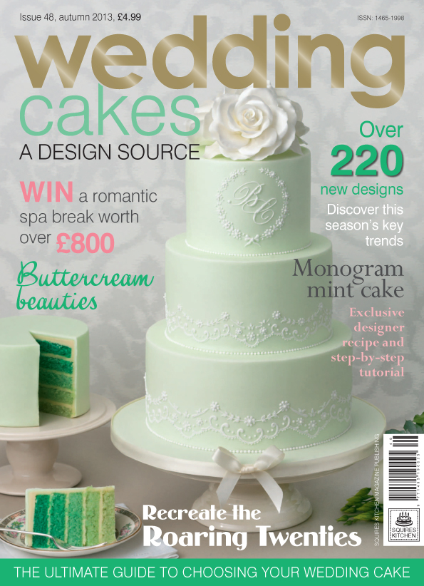 Portada del nº 48 de la revista Wedding cake de Squires Kitchen (prensa internacional)