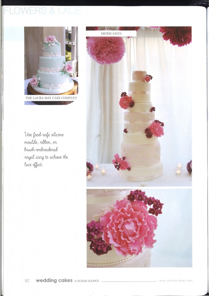 """Aparición de las tartas de boda de Mericakes en la revista internacional de Squires Kitchen """"Wedding cakes"""""""