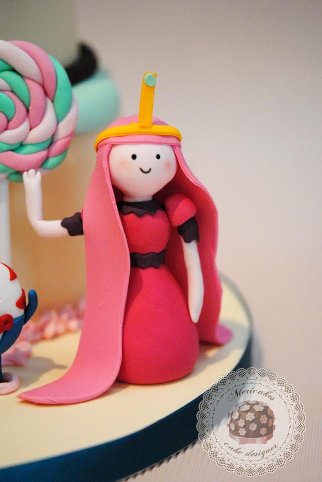 Princesa Chicle en pasta de azúcar, modelado, sugarcraft, Hora de aventuras, chuchelandia, Adventure time, mericakes, tartas barcelona, fondant, pastel celebraciones, tartas de pisos, barelona, sugar craft, sugar paste, fondant,