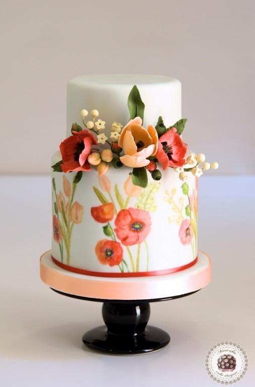 wedding-cake-fondant-tarta-de-boda-painted-cake-sugar-flowers-barcelona-mericakes-summer-dream-tulip-poppy-tulipan-amapola-muguet-lilis-del-valle-lily-of-the-valley-sugarcraft_fotor