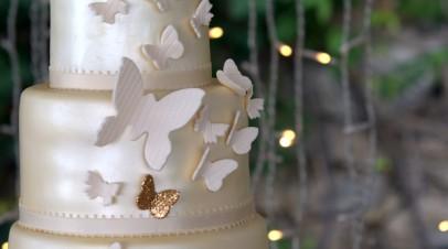 Butterflies  & Roses wedding cake  (Tarta de boda)