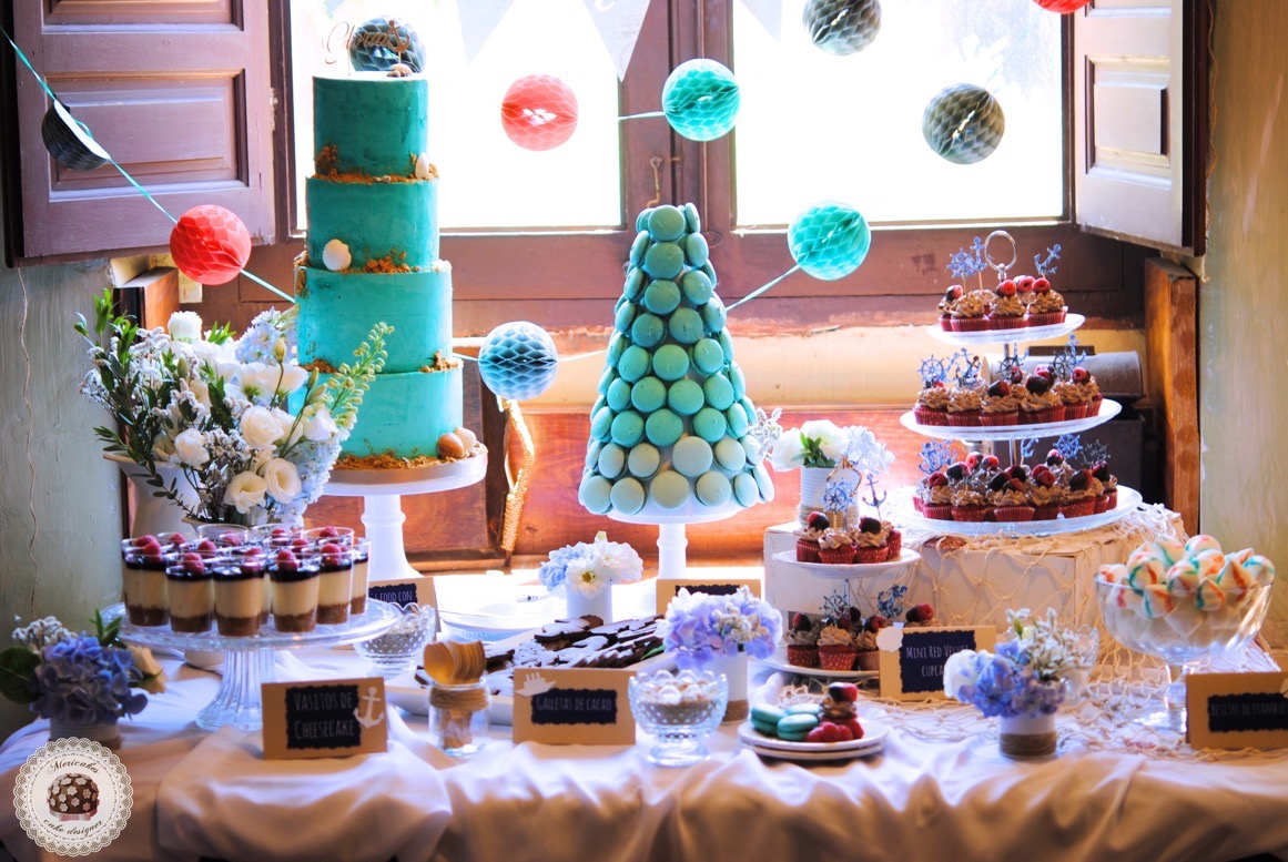 dessert-table-sweet-table-mesa-dulce-macarons-naked-cake-sea-sailor-sea-fresh-flowers-tarta-cupcakes-anchor-mericakes-12