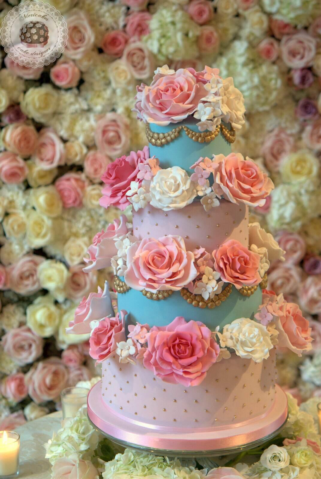 Avalanche Roses Wedding cake, tarta de boda, bodas barcelona, mericakes, fondant, barcelona wedding, bridal, rosas. (6)
