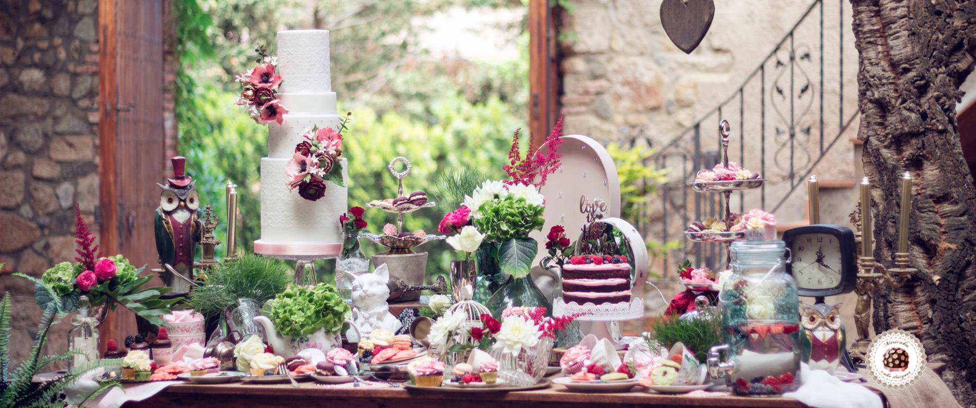 Mericakes cake designer for Dulce boda