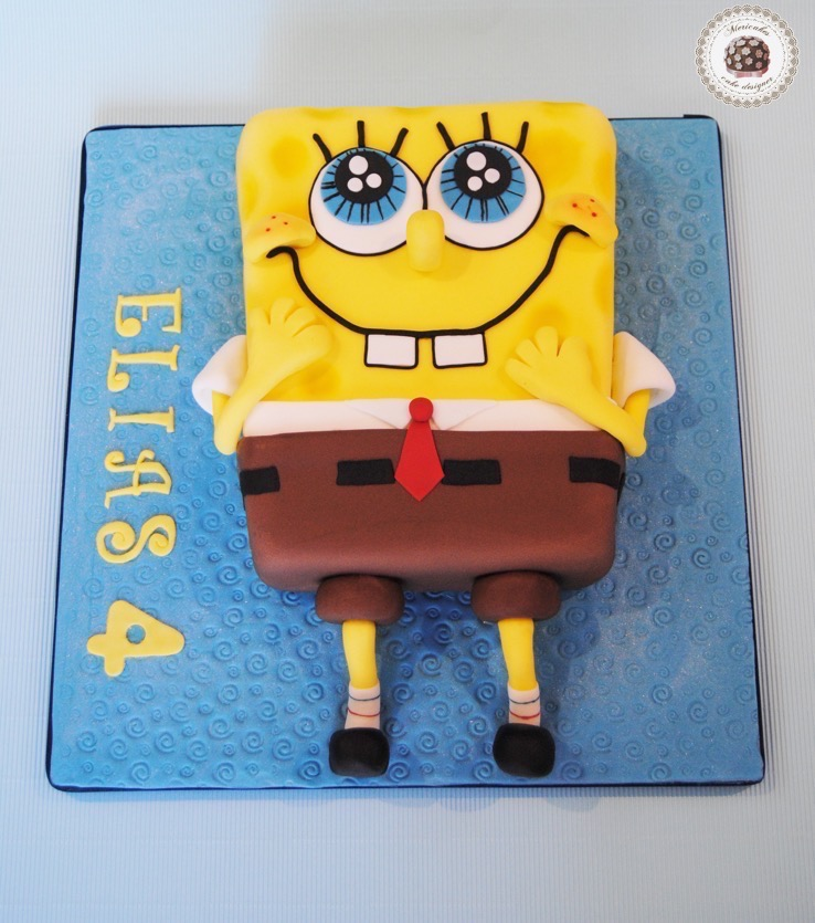 bob-esponja-sponge-bob-square-pants-tarta-2d-mericakes-tartas-decoradas-tartas-infantiles-cakes-for-kids-chocolate-barcelona-fondant-sugarcraft
