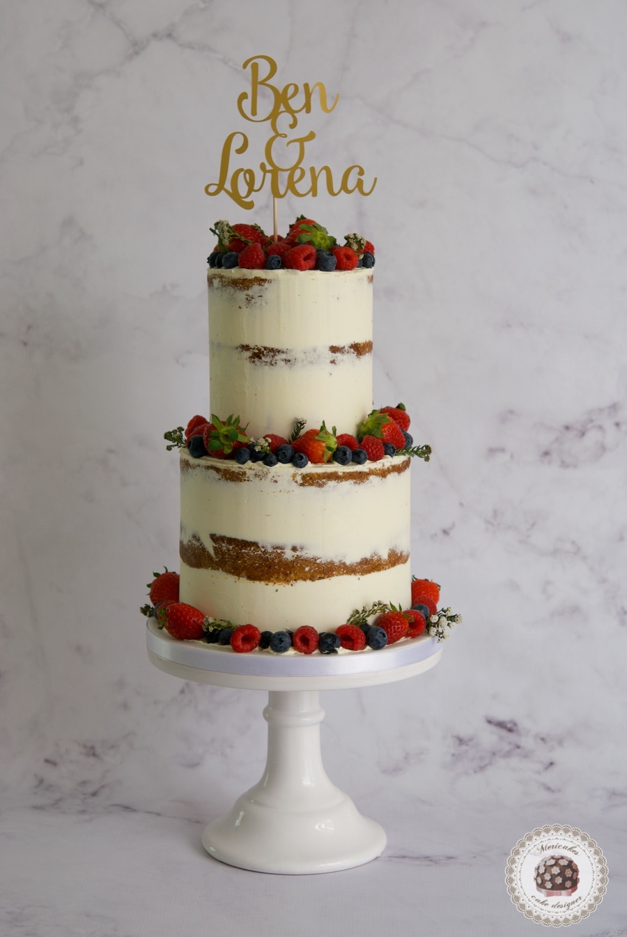 Fruit Semi naked cake