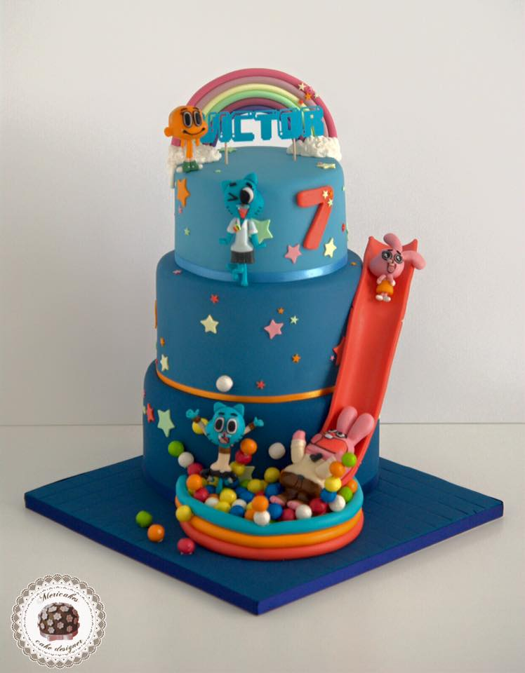 mesa-dulce-tarta-el-increible-mundo-de-gumball-cartoon-network-dessert-table-brithday-cake-barcelona-mericakes-cumpleanos-pastel-anabel-richard-darwin-fondant-6