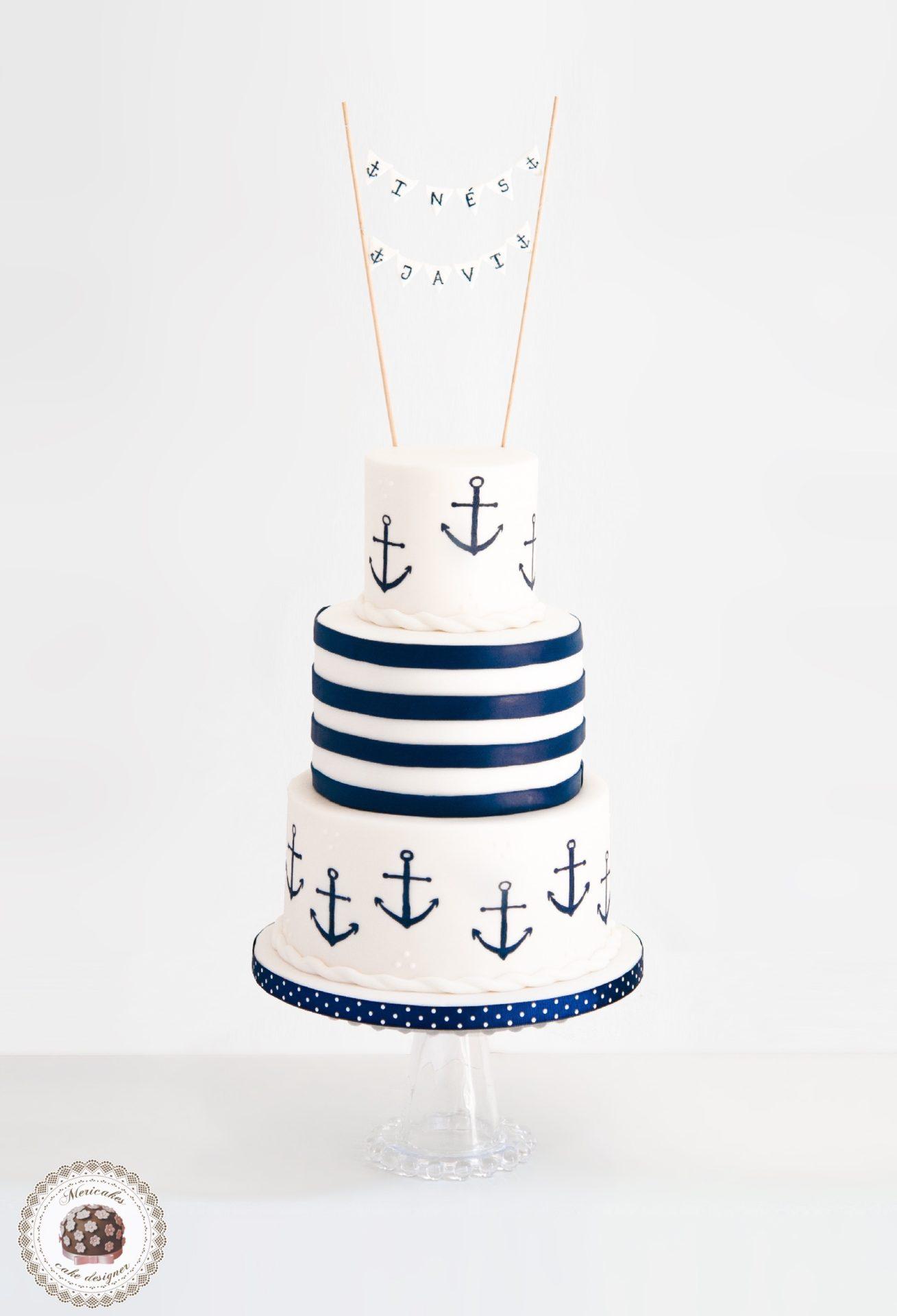 sailor-wedding-cake-tarta-de-boda-tartas-barcelona-tartas-decoradas-anclas-anchor-mericakes-fondant