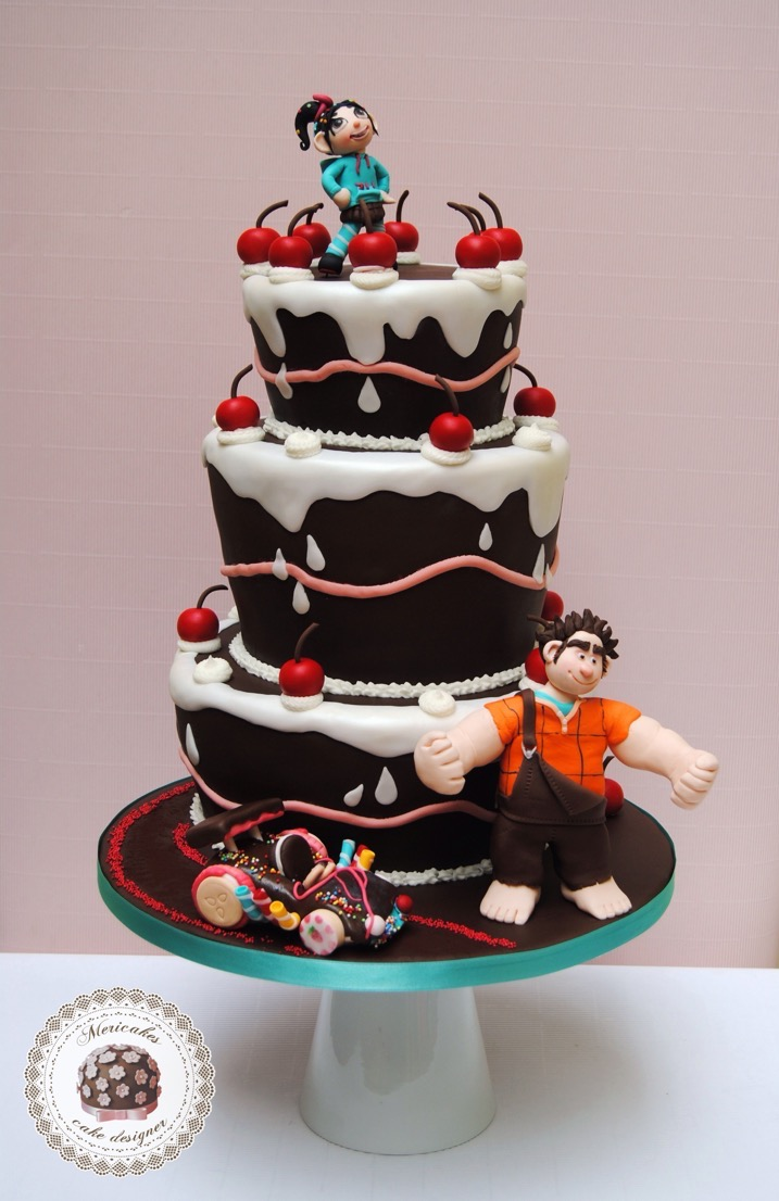 sugar-rush-cake-wreck-it-ralph-rompe-ralph-vanellope-tarta-mericakes-barcelona-devils-food-cacao-fondant