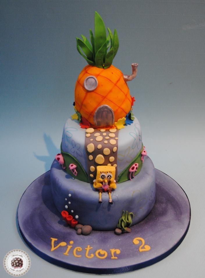 tarta-fondo-de-bikini-bikini-bottom-bob-esponja-sponge-bob-square-pants-mericakes-pastel-cumpleanos-cakes-for-kids-barcelona-pina-pinnaple-sugarcraft