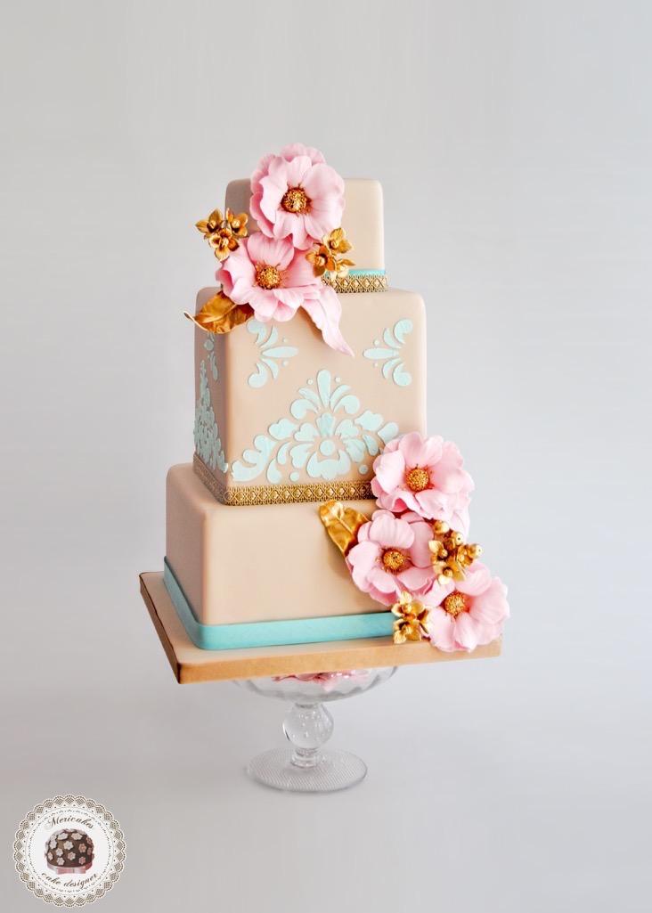 versailles-cake-weddingcake-bridal-pastel-tarta-sugarcraft-fondant-flores-hortensias-mericakes-boda-fondant