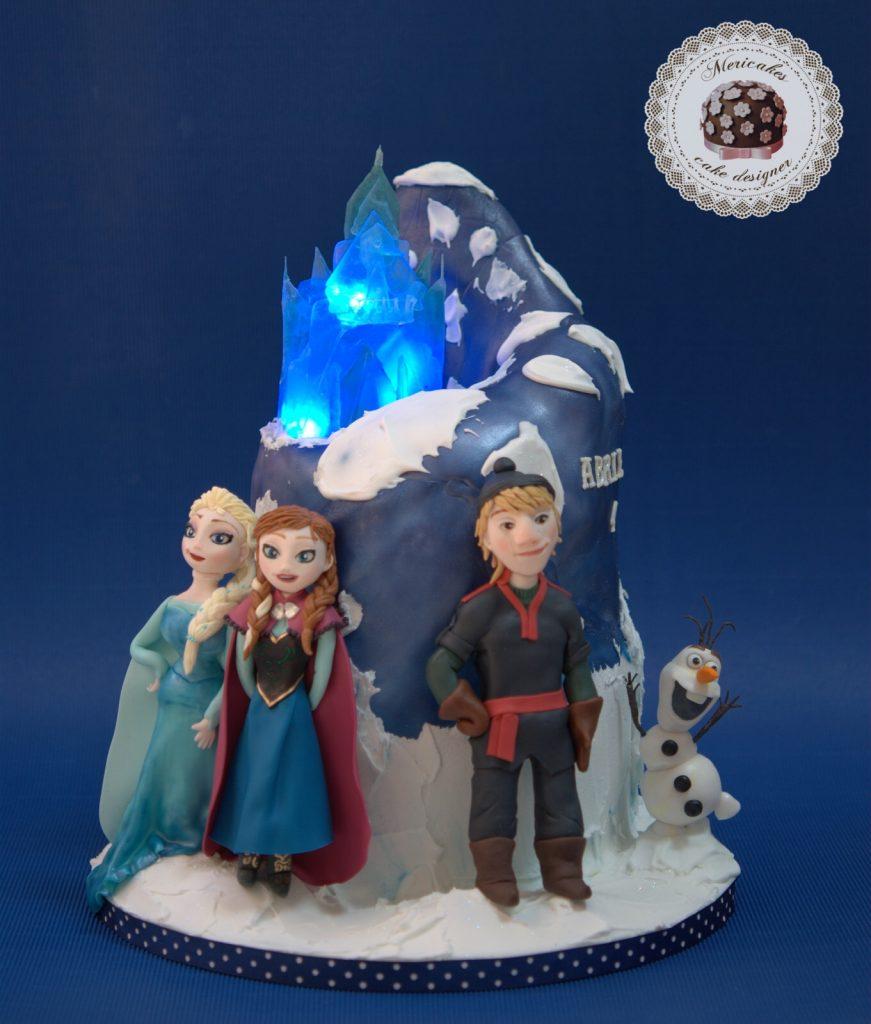 frozen-cake-elsa-olaf-kristof-ana-disney-fondant-mericakes-barcelona-isomalt-tarta-luces