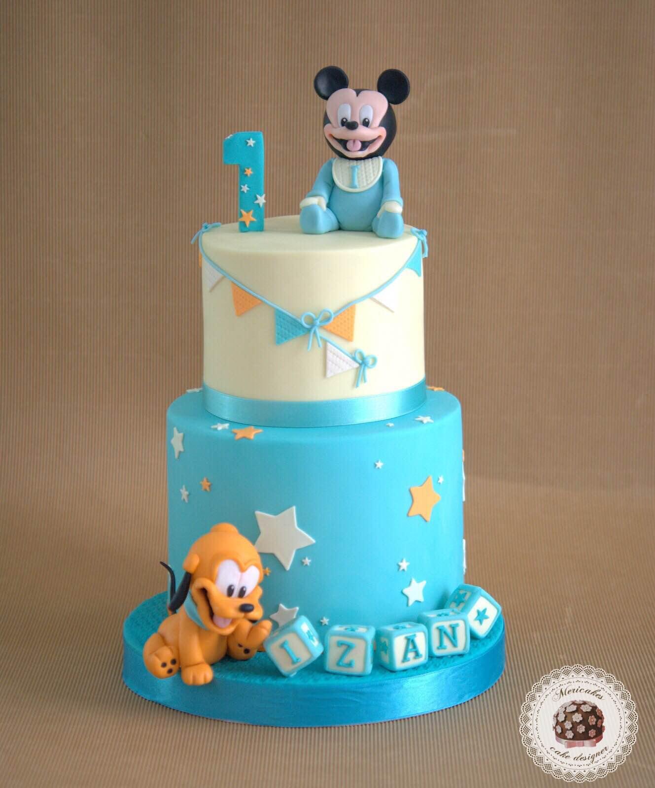 mickey-mousse-pluton-baby-bebes-baby-cake-tarta-tartas-decoradas-boy-cake-mericakes-barcelona-fondant-disney