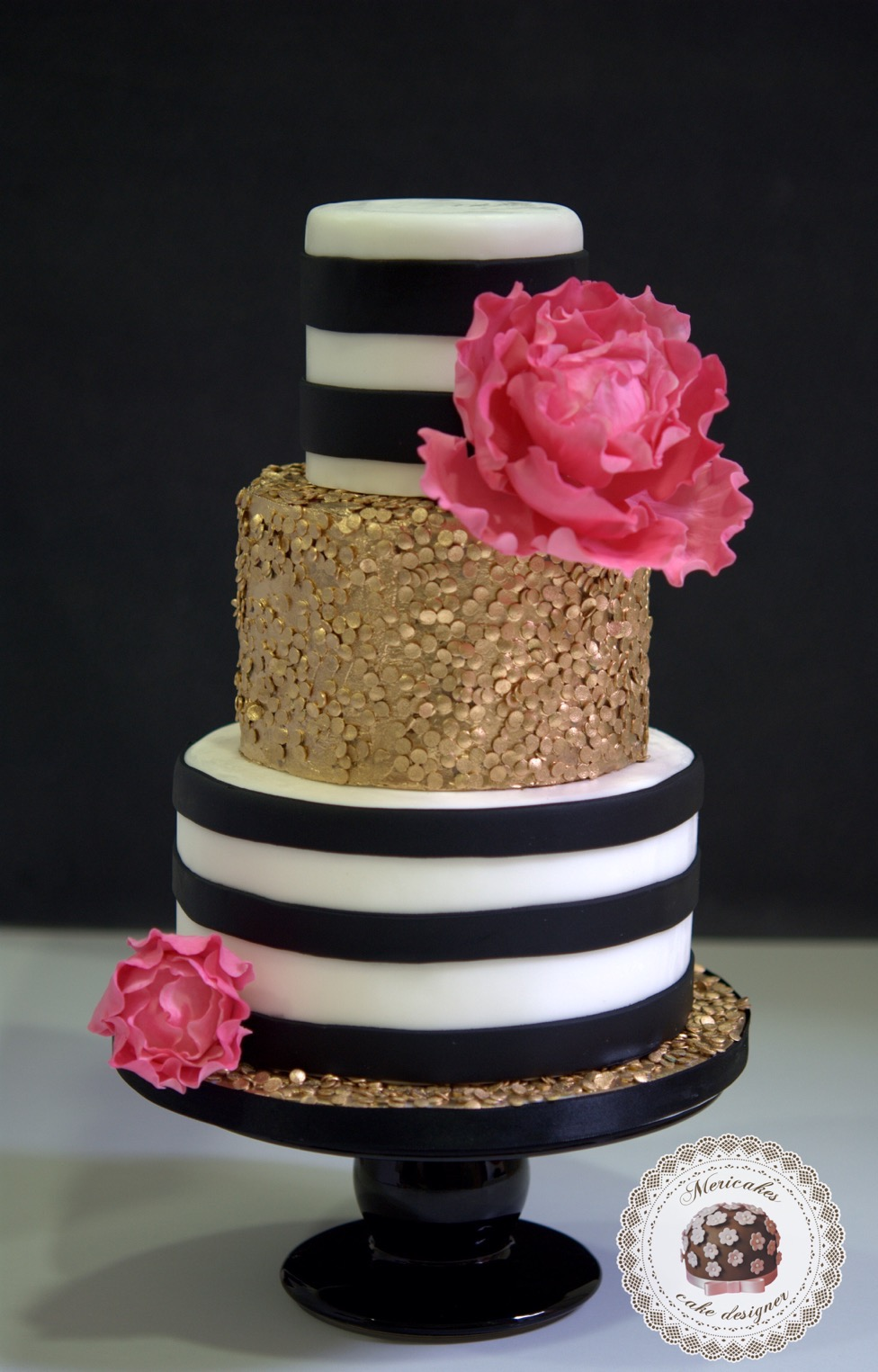 sequins-stripes-wedding-cake-peony-gold-oro-lentejuelas-rayas-sugarcraft-fondant-tarta-de-boda-barcelona-3