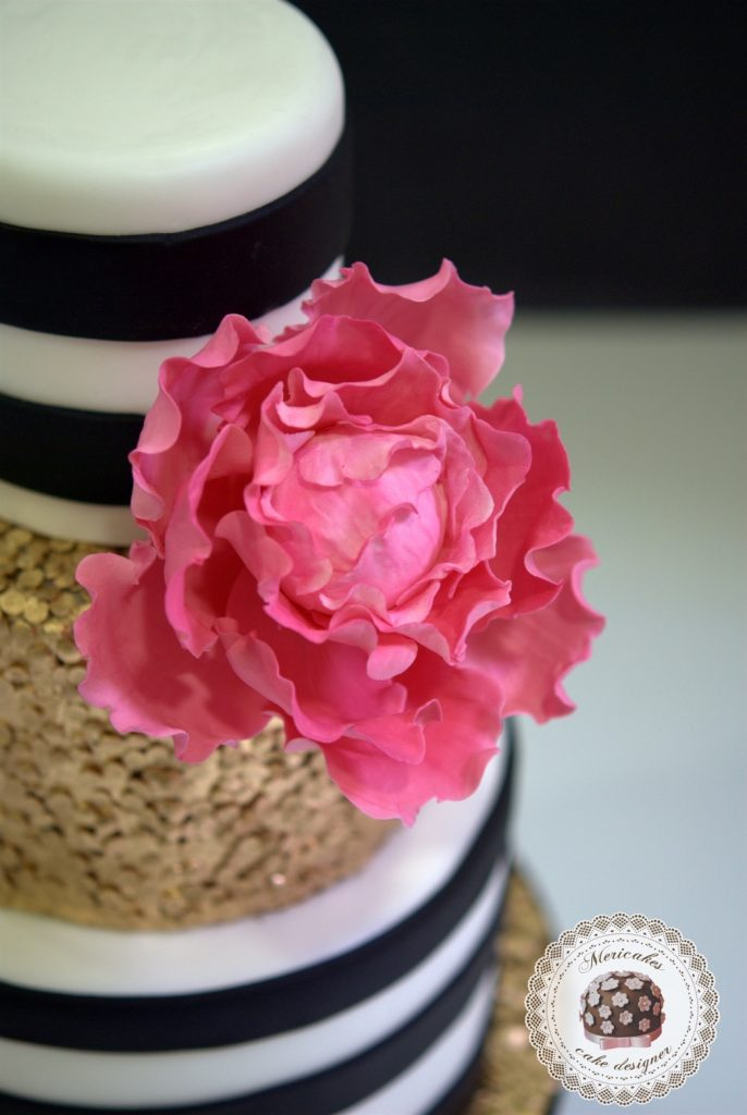 sequins-stripes-wedding-cake-peony-gold-oro-lentejuelas-rayas-sugarcraft-fondant-tarta-de-boda-barcelona-4