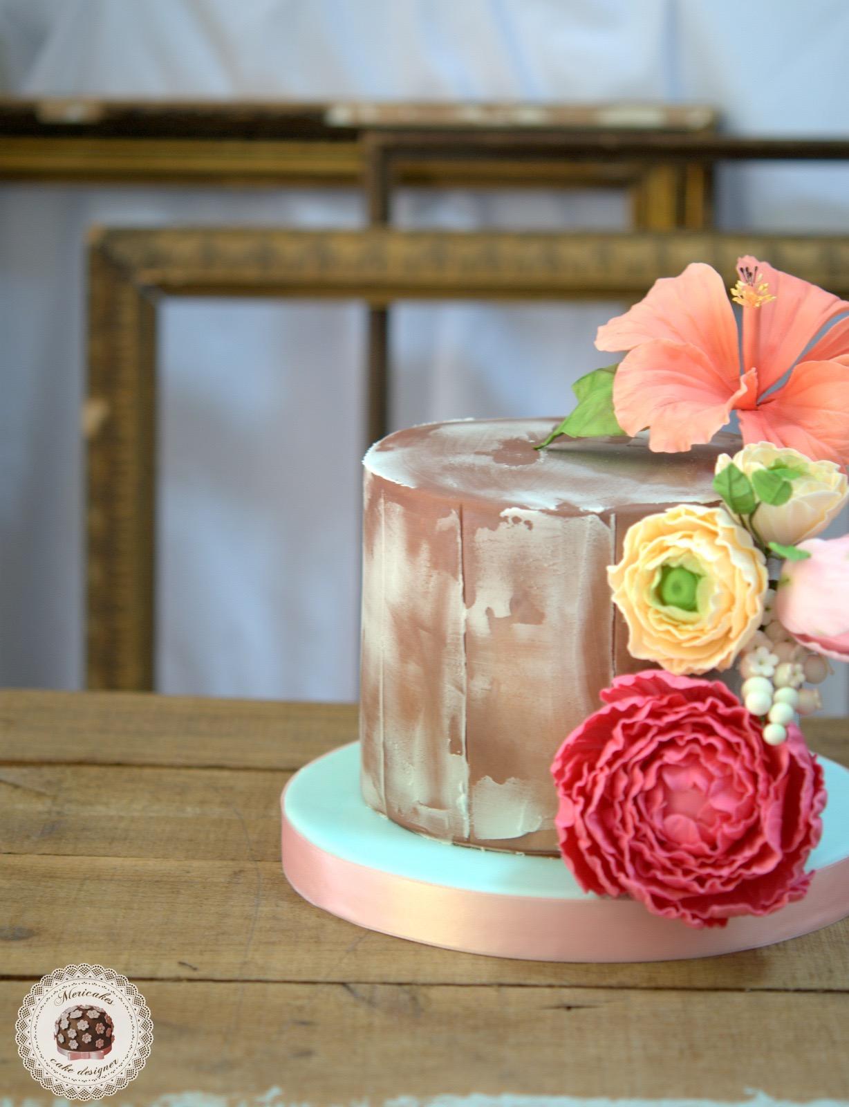 tarta-rustica-cake-cumpleanos-tartas-decoradas-reposteria-creativa-sugarcraft-barcelona-mericakes-flores-de-azucar-sugar-flowers-chocolate-red-velvet