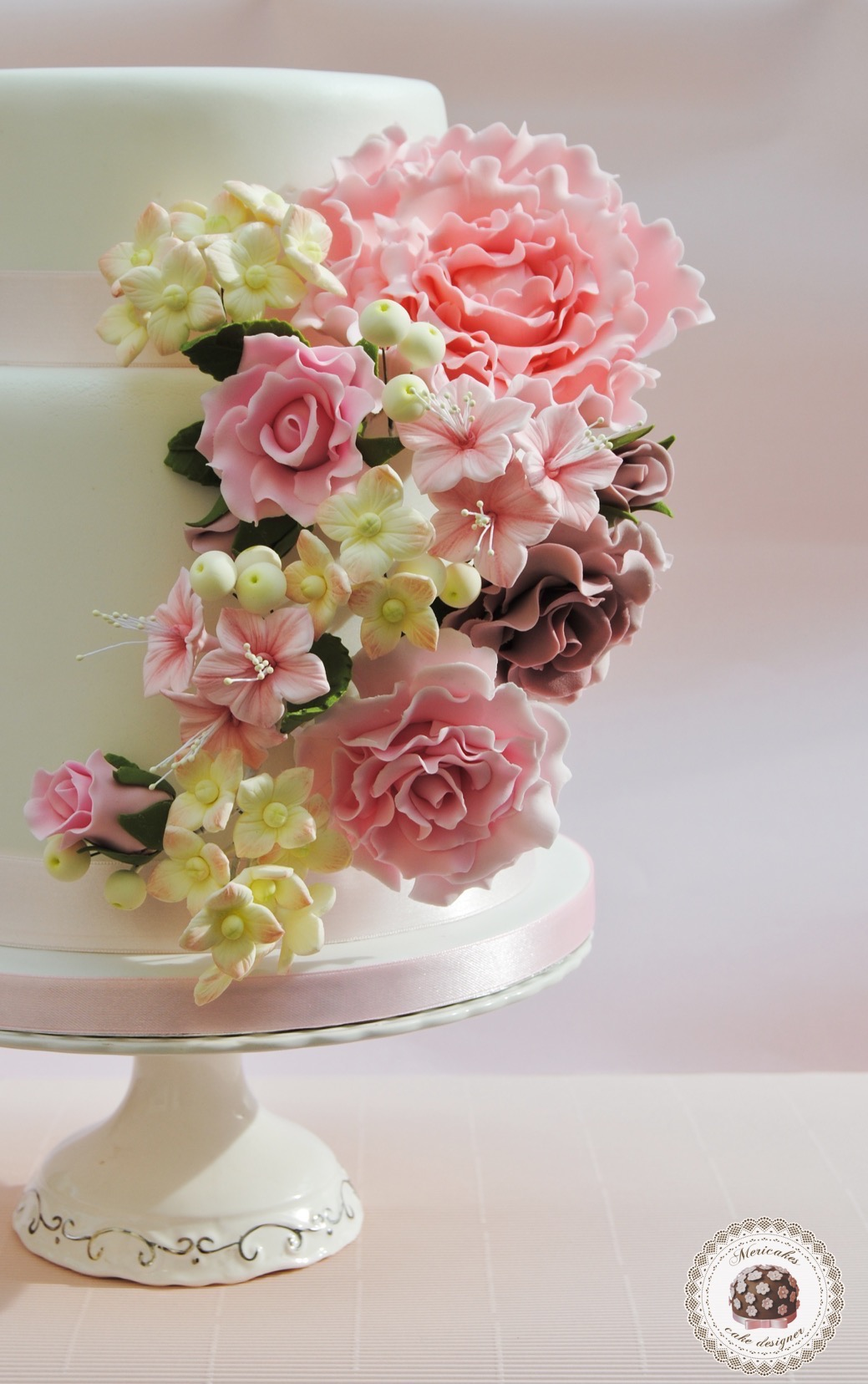 spring flowers wedding flowers wedding cake 7629