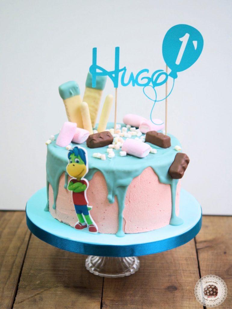 drip-cake-mericakes-tartas-decoradas-cake-first-birthday-pastel-cumpleanos-brownie-danonino-dino-topper-cake-barcelona