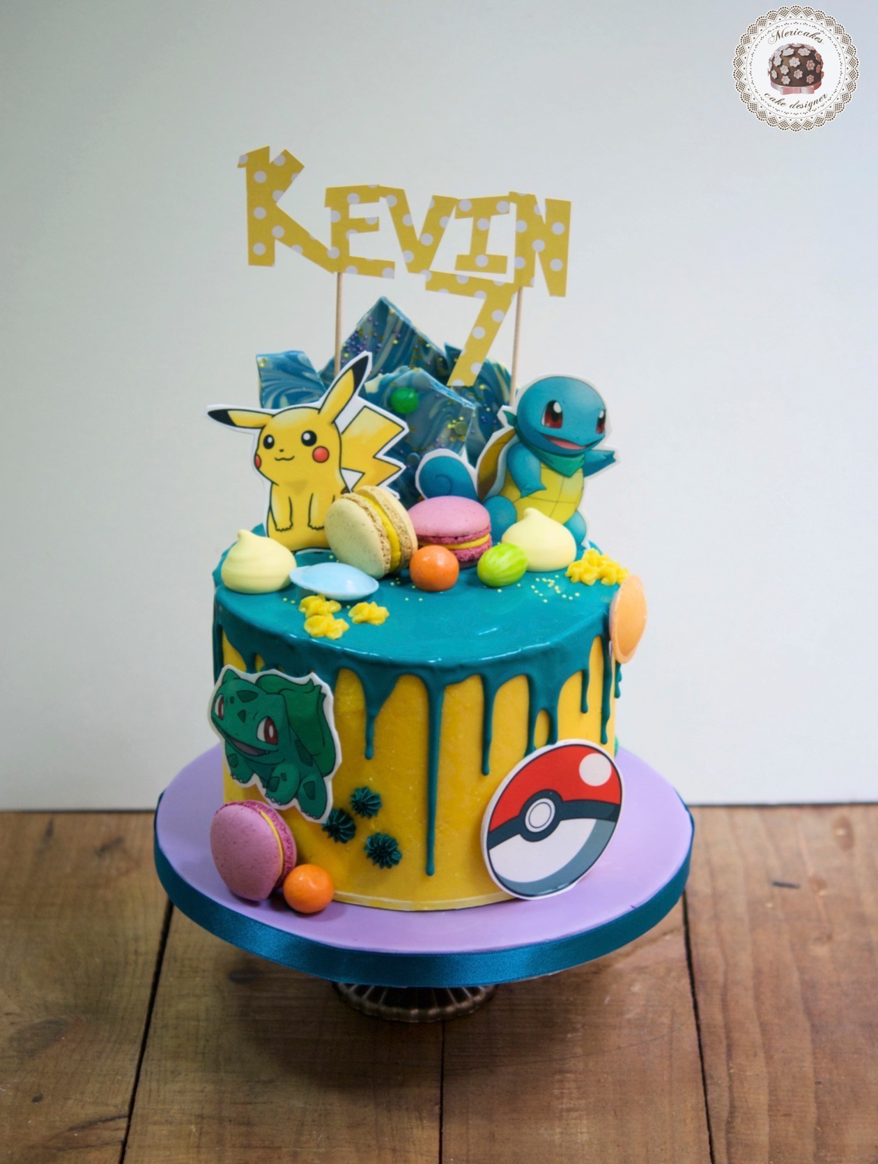 Super Mario Pokemon Birthday Cake