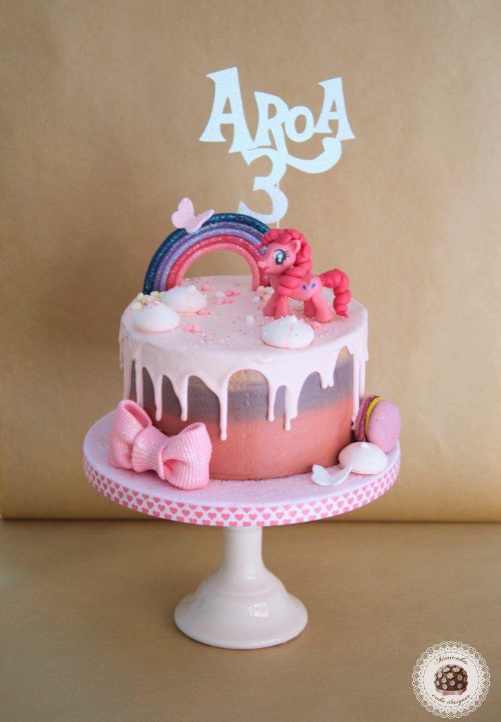 Drip cake pinkie pie my little pony tarta de mi peque o for Decoracion tartas infantiles