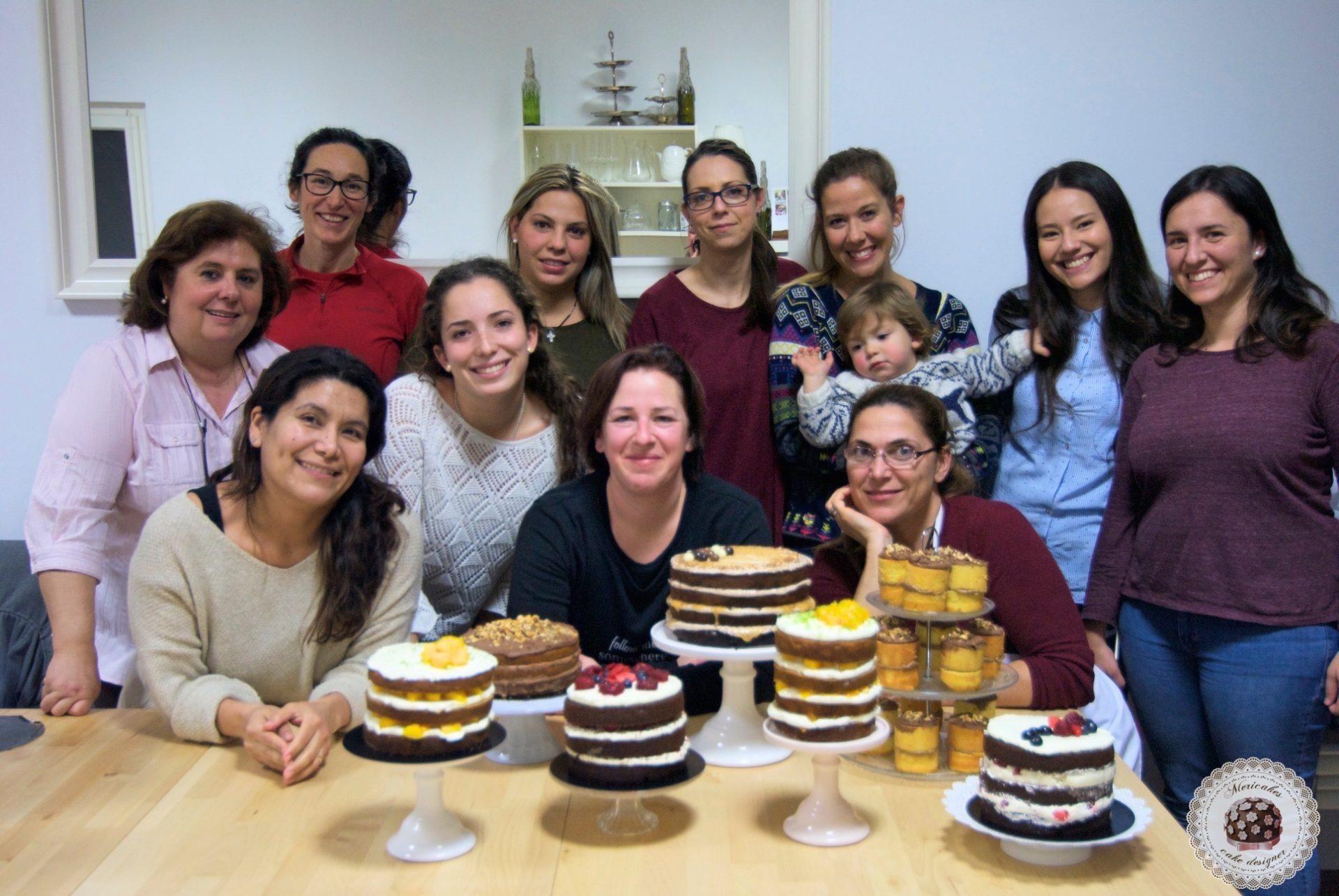 Curso bizcochos y rellenos, escuela, pasteleria creativa, mericakes, barcelona, tartas, layer cake, naked cake, pasteles, tartas deliciosas, bizcochos y rellenos, chocolate