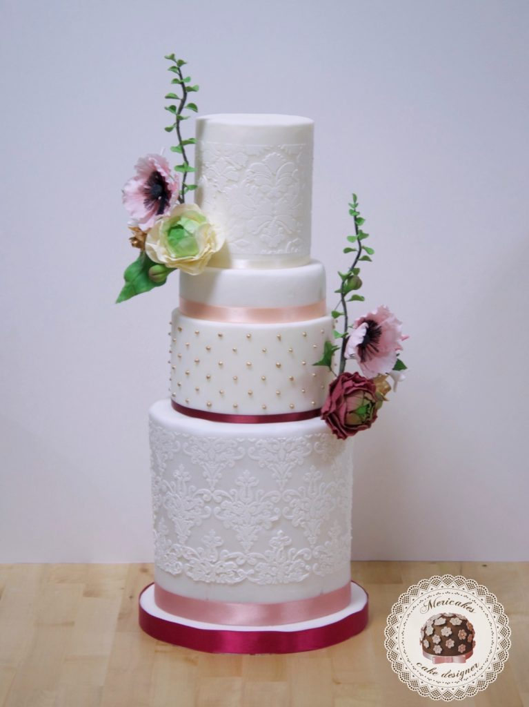 master class love is in the cake, tartas de boda, curso, escuela, sugarcraft, mericakes, barcelona, cake designer, flores de azucar, sugarcraft school 12