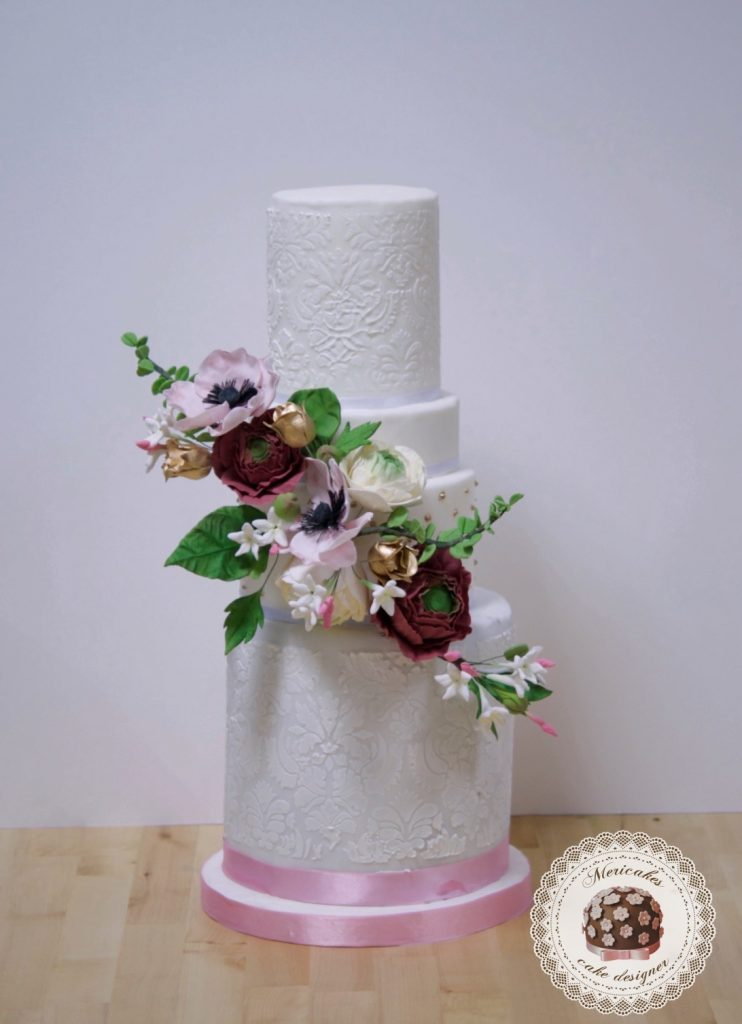 master class love is in the cake, tartas de boda, curso, escuela, sugarcraft, mericakes, barcelona, cake designer, flores de azucar, sugarcraft school 13