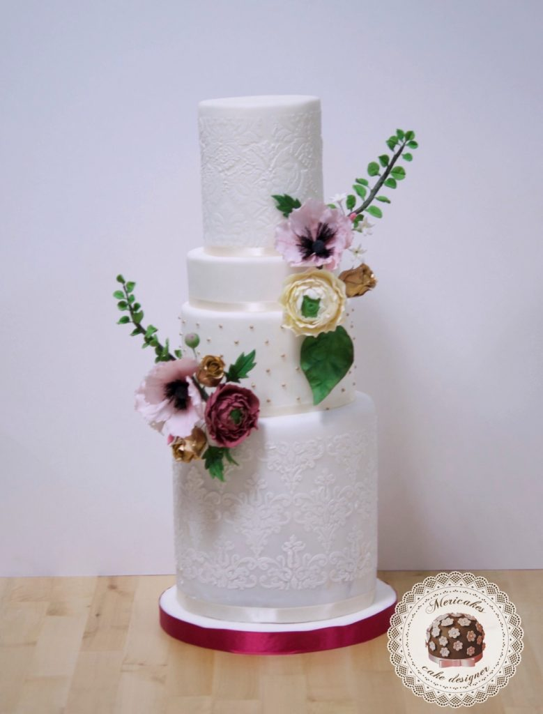 master class love is in the cake, tartas de boda, curso, escuela, sugarcraft, mericakes, barcelona, cake designer, flores de azucar, sugarcraft school 15