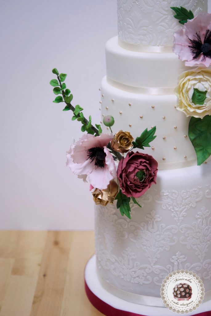 master class love is in the cake, tartas de boda, curso, escuela, sugarcraft, mericakes, barcelona, cake designer, flores de azucar, sugarcraft school 16