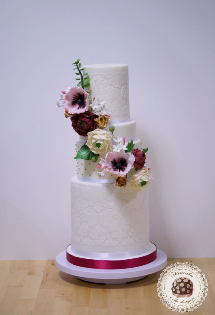 master class love is in the cake, tartas de boda, curso, escuela, sugarcraft, mericakes, barcelona, cake designer, flores de azucar, sugarcraft school 17