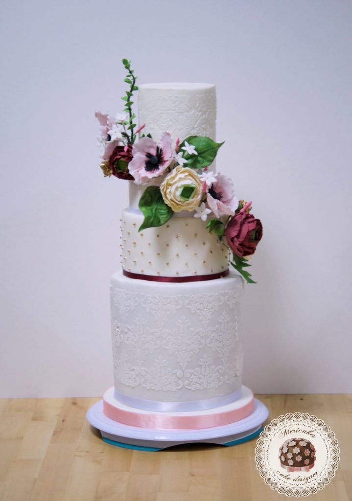 master class love is in the cake, tartas de boda, curso, escuela, sugarcraft, mericakes, barcelona, cake designer, flores de azucar, sugarcraft school 21
