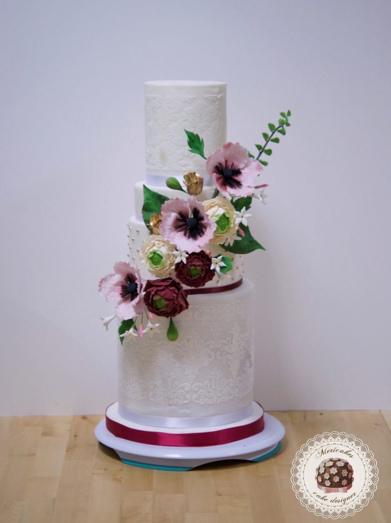 master class love is in the cake, tartas de boda, curso, escuela, sugarcraft, mericakes, barcelona, cake designer, flores de azucar, sugarcraft school 24