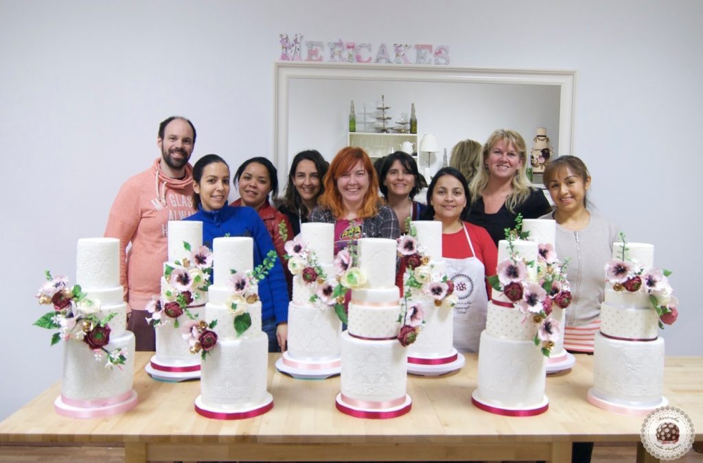 master class love is in the cake, tartas de boda, curso, escuela, sugarcraft, mericakes, barcelona, cake designer, flores de azucar, sugarcraft school 26