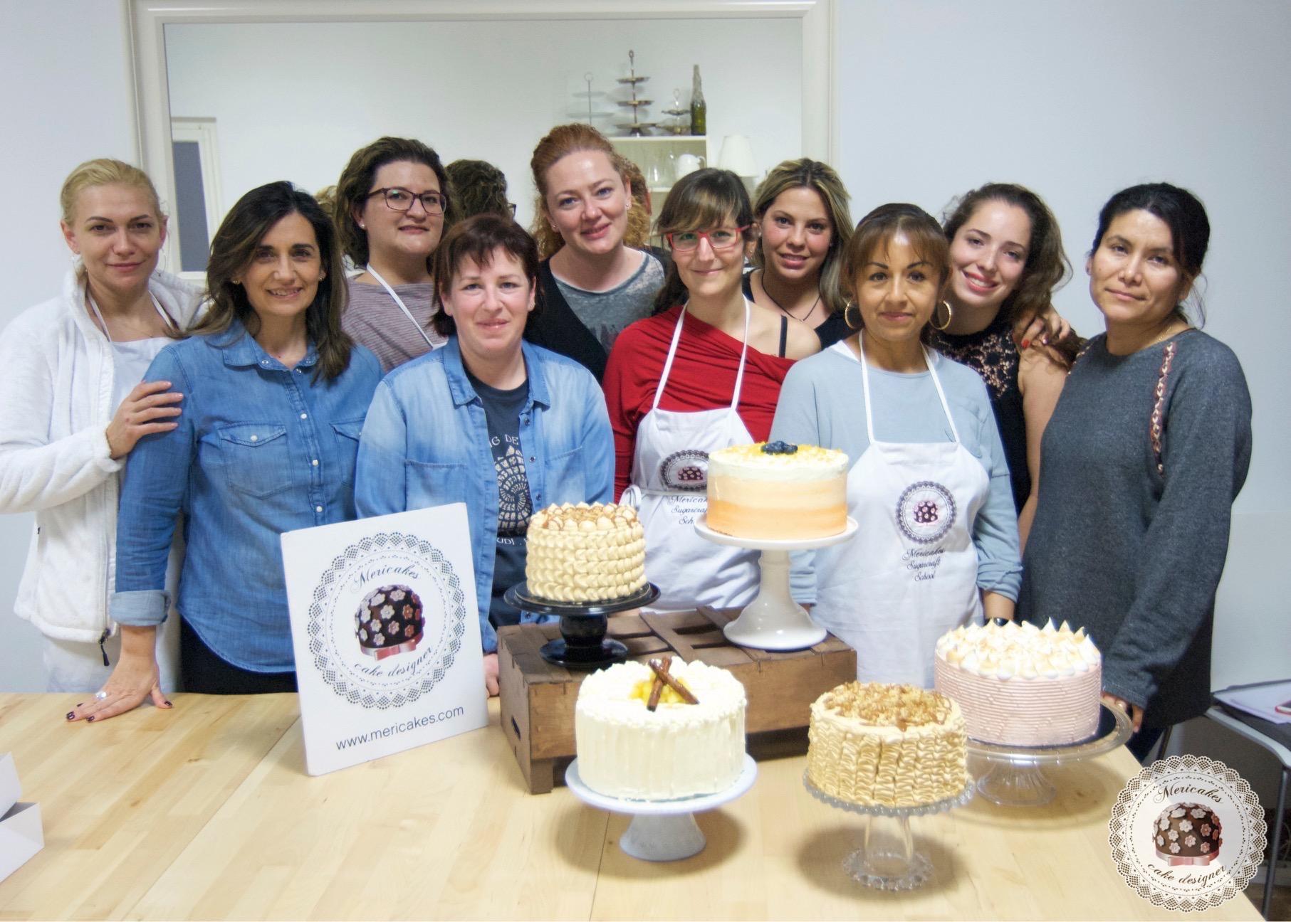 curso, bizcochos y rellenos 2, escuela, barcelona, tartas, layer cakes, naked cake, mericakes, carrot cake, manzana y canela, devils food, bananna y caramelo 11
