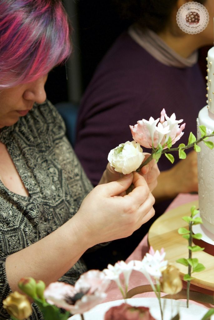 master class love is in the cake, mericakes, bilbao, algorta, pais vasco, tartas de boda, wedding cake, flores de azucar, curso reposteria, pasteleria creativa, master class, sugarcraft, sugar flowers 13