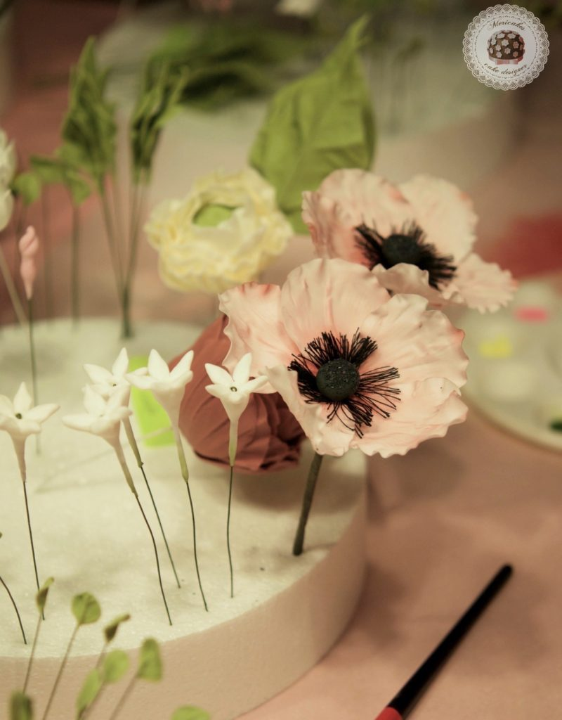 master class love is in the cake, mericakes, bilbao, algorta, pais vasco, tartas de boda, wedding cake, flores de azucar, curso reposteria, pasteleria creativa, master class, sugarcraft, sugar flowers 5