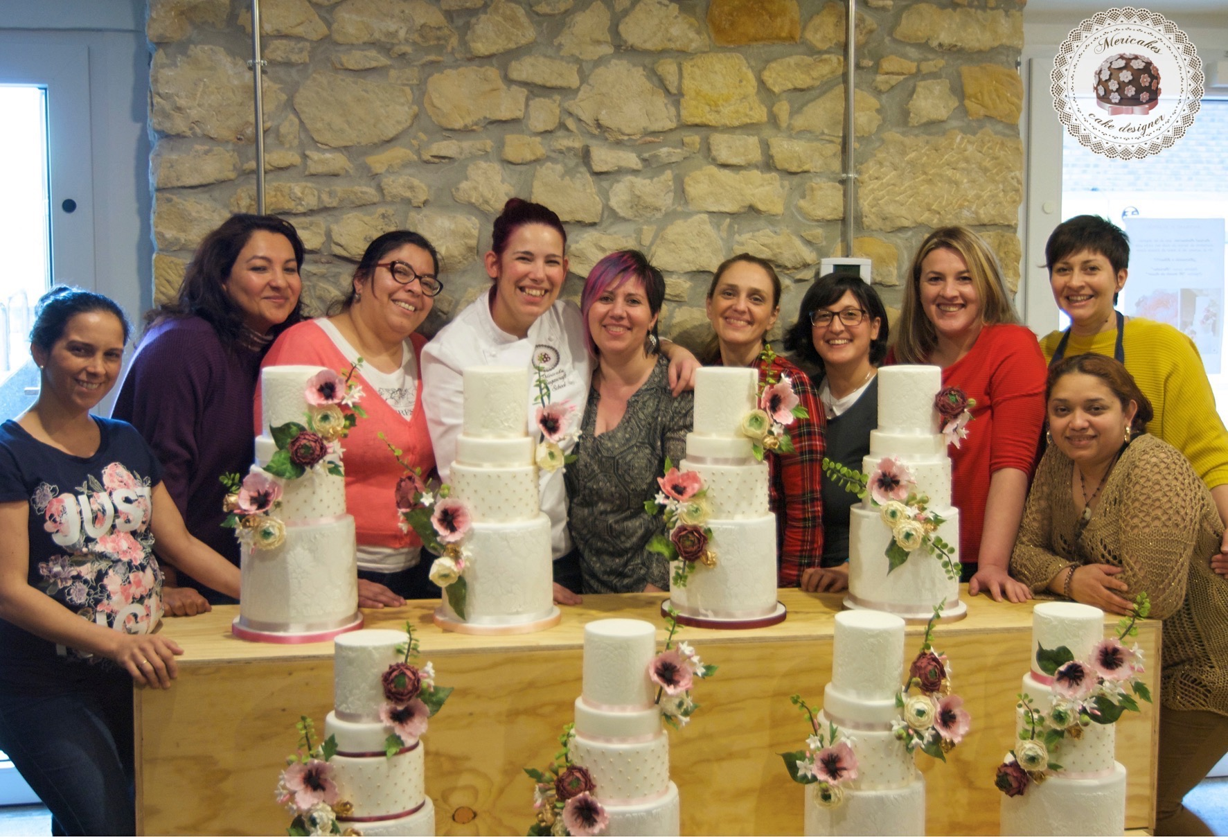 master class love is in the cake, tartas de boda, curso, escuela, sugarcraft, mericakes, bilbao, pais vasco, cake designer, flores de azucar, sugarcraft school