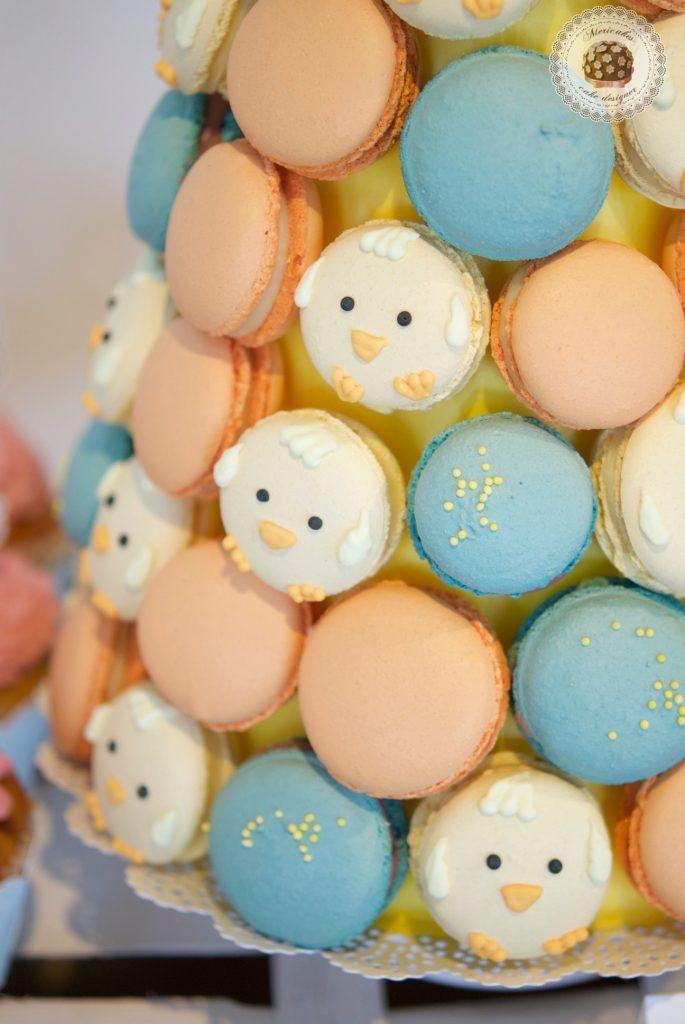 Mesa dulce, baby shower, dessert table, 100 th day, chick, pollito, mericakes, barcelona, eventos, macarons, galletas decoradas, cake pops 12