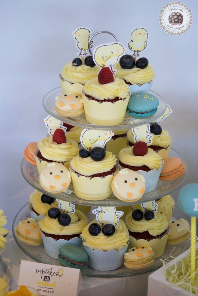 Mesa dulce, baby shower, dessert table, 100 th day, chick, pollito, mericakes, barcelona, eventos, macarons, galletas decoradas, cake pops 7