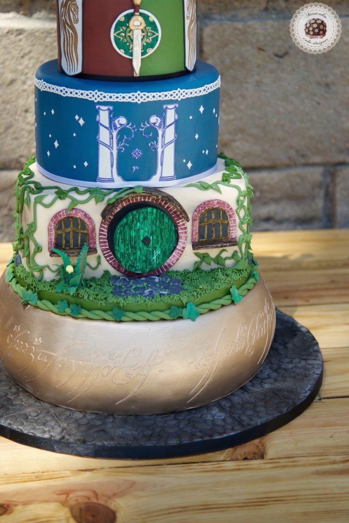 lordoftherings, lotr, lotr cake, wedding, weddingcake, wedding blogger, spain wedding, barcelona, mericakes, tarta de boda, el senor de los anillos, jrrtolkien, minas tirith 1