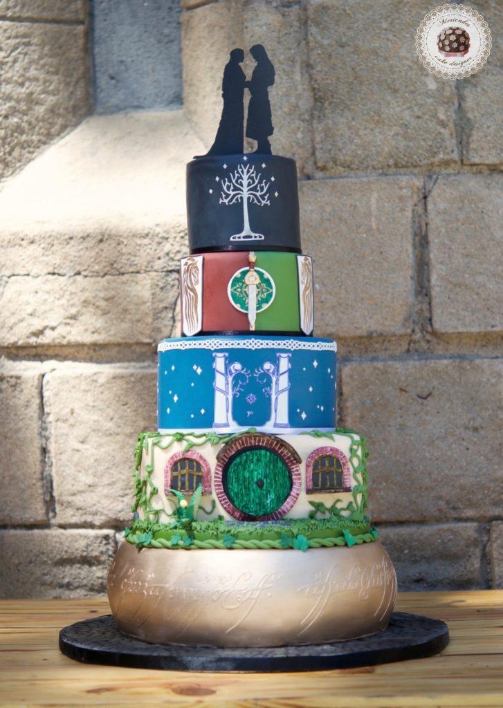 lordoftherings, lotr, lotr cake, wedding, weddingcake, wedding blogger, spain wedding, barcelona, mericakes, tarta de boda, el senor de los anillos, jrrtolkien, minas tirith 5