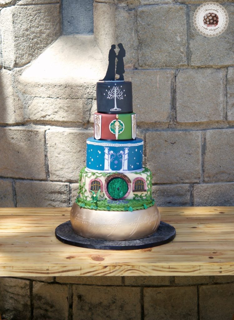 lordoftherings, lotr, lotr cake, wedding, weddingcake, wedding blogger, spain wedding, barcelona, mericakes, tarta de boda, el senor de los anillos, jrrtolkien, minas tirith 6