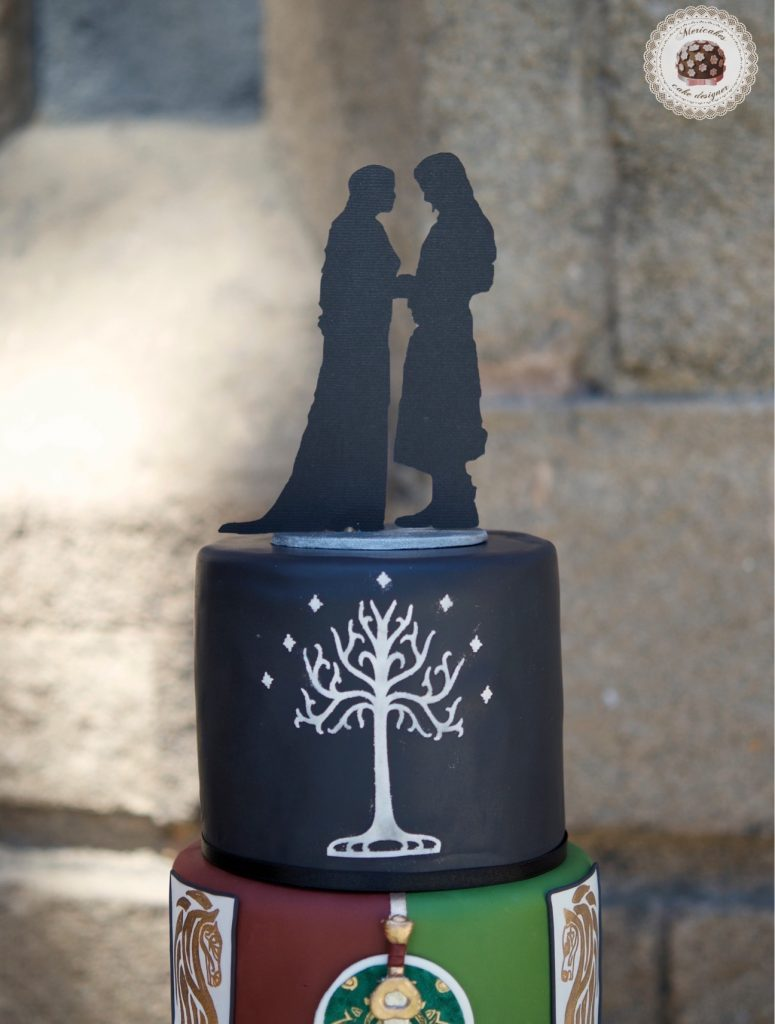 lordoftherings, lotr, lotr cake, wedding, weddingcake, wedding blogger, spain wedding, barcelona, mericakes, tarta de boda, el senor de los anillos, jrrtolkien, minas tirith 7
