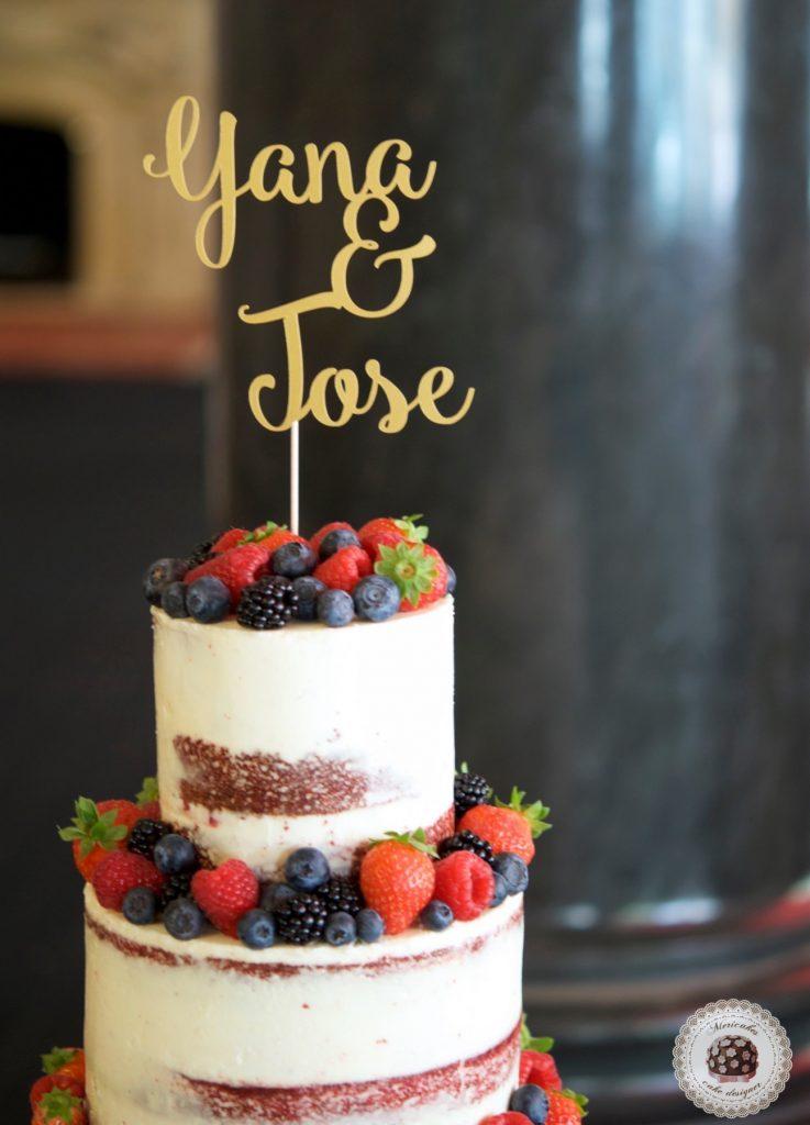 semi naked cake, mericakes, wedding cake, Hote Palace, Spain wedding, red velvet, berries, tarta de boda, fruit cake, pasteleria creativa, tartas barcelona, cake topper, wedding blogguer, bodas reales, barcelona 4