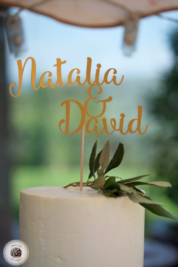 Cream Olive Wedding Cake